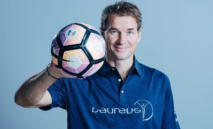 Laureus Academy Member Jens Lehmann poses for a portrait during the Laureus Sport for Good Global Summit in partnership with Allianz. Simon Hofmann/Getty Images for Laureus