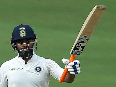 Rishabh Pant will resume his innings on Day 3 at personal score of 85, which he scored in 120 balls. AP