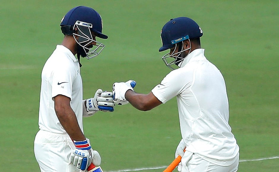 Ajinkya Rahane (75) and Rishabh Pant (85) went back not-out after having weaved a 146-run partnership for the fifth wicket. They will resume the innings for India at 308/4 on day 3, still trailing by 3 runs. AP