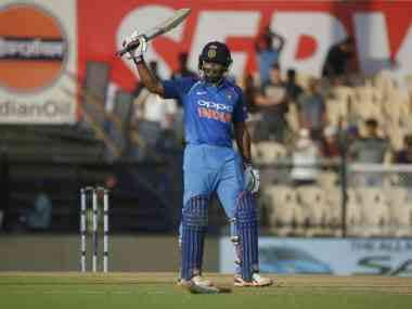 Ambati Rayudu scored 81-ball 100 against Windies in 4th ODI. AP