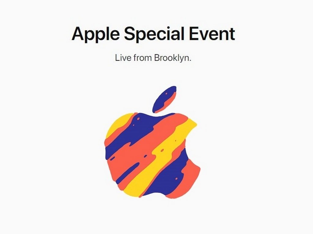 Apple October Event poster. Image: Apple US