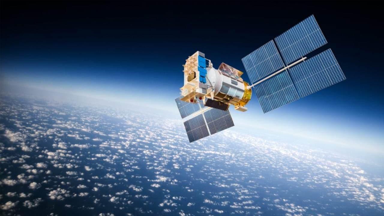An artistic rendering of the AstroSat satellite. Image courtesy: ISRO