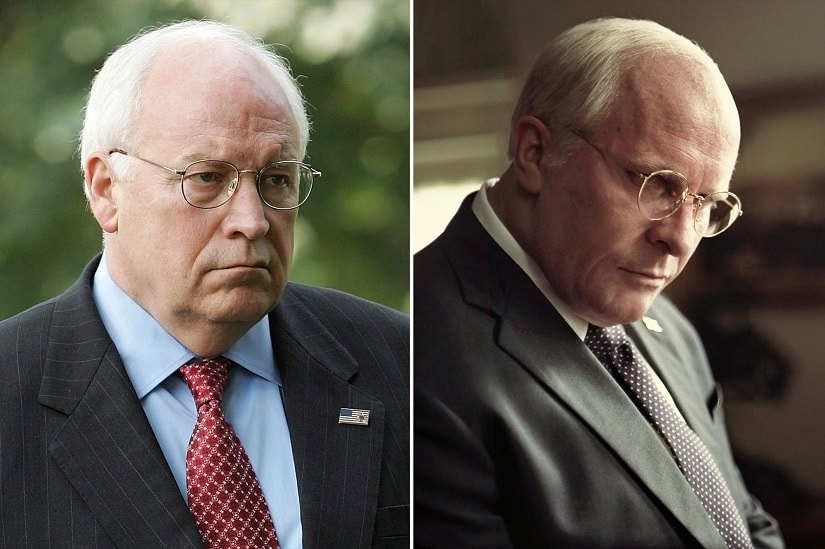 Vice first look reveals Christian Bales incredible transformation into former US vice president Dick Cheney