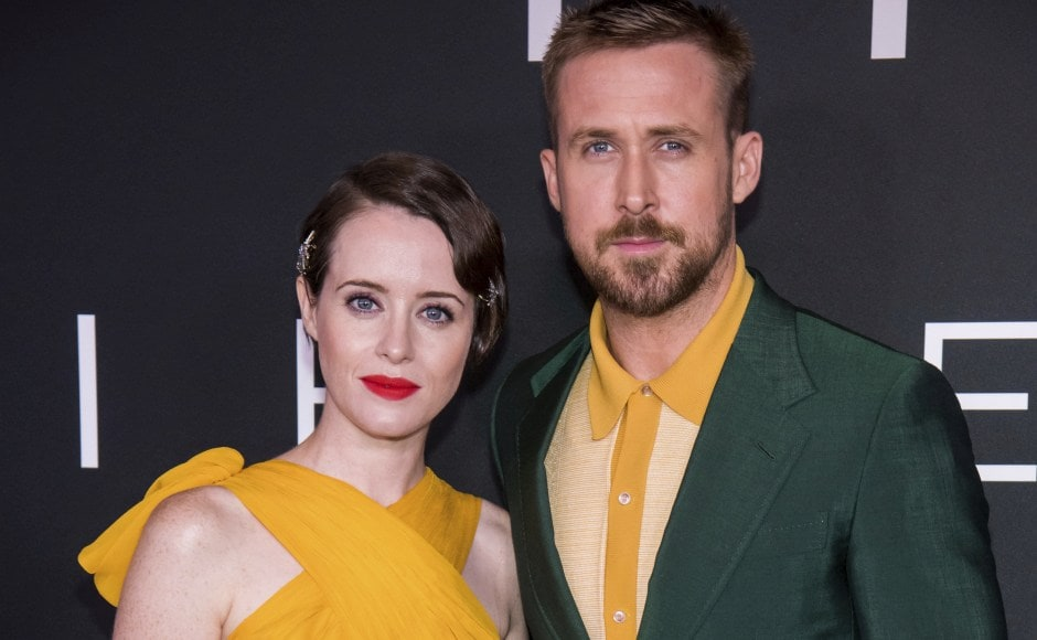 Claire Foy and Ryan Gosling attend the DC premiere of First Man at the National Air and Space Museum of the Smithsonian Institution. Photo by Charles Sykes/Invision/AP