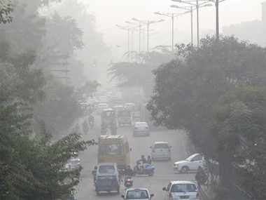 File image of a smoggy morning in Delhi. AP