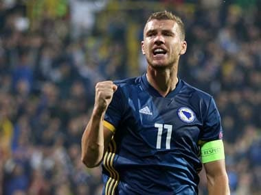 Edin Dzeko showed great composure to score a brace and fire Bosnia to a win over Northern Ireland. Reuters