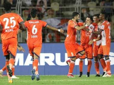 FC Goa fired five goals past Mumbai City FC at Fatorda to go to the top of ISL standings. Image Courtesy: ISL