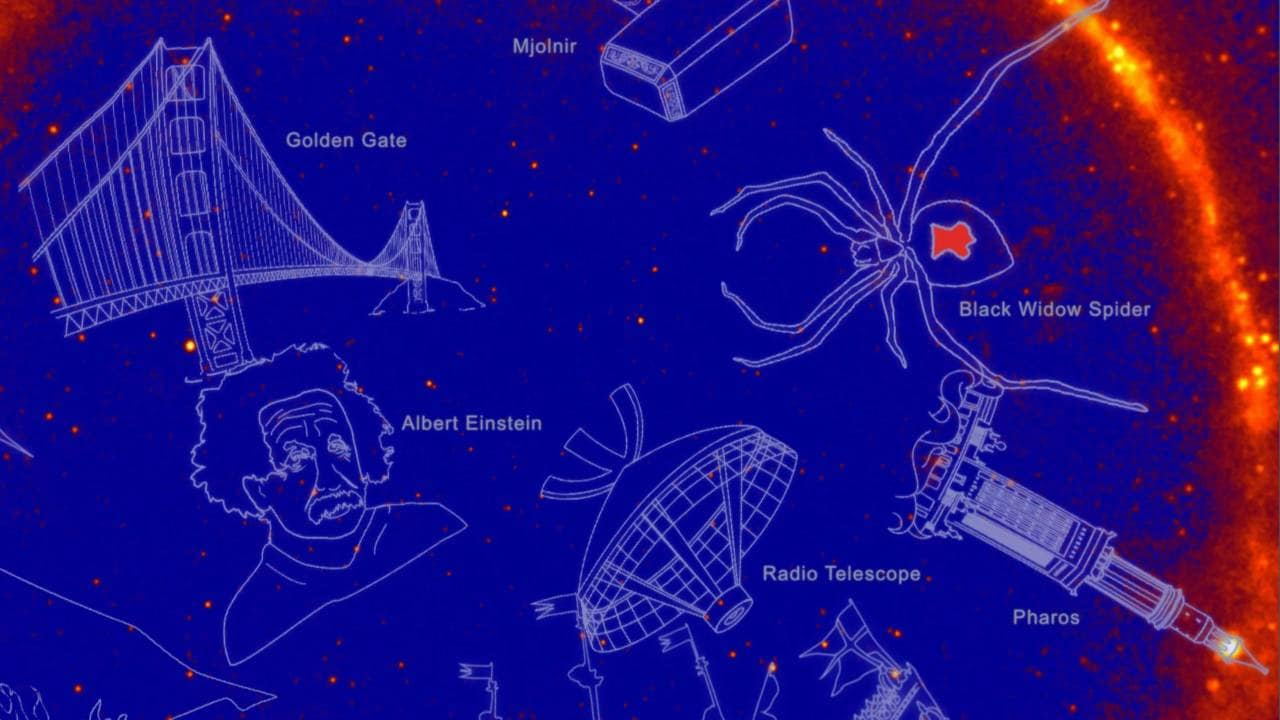 NASA names gamma-ray constellations after comic superheroes Godzilla, Hulk