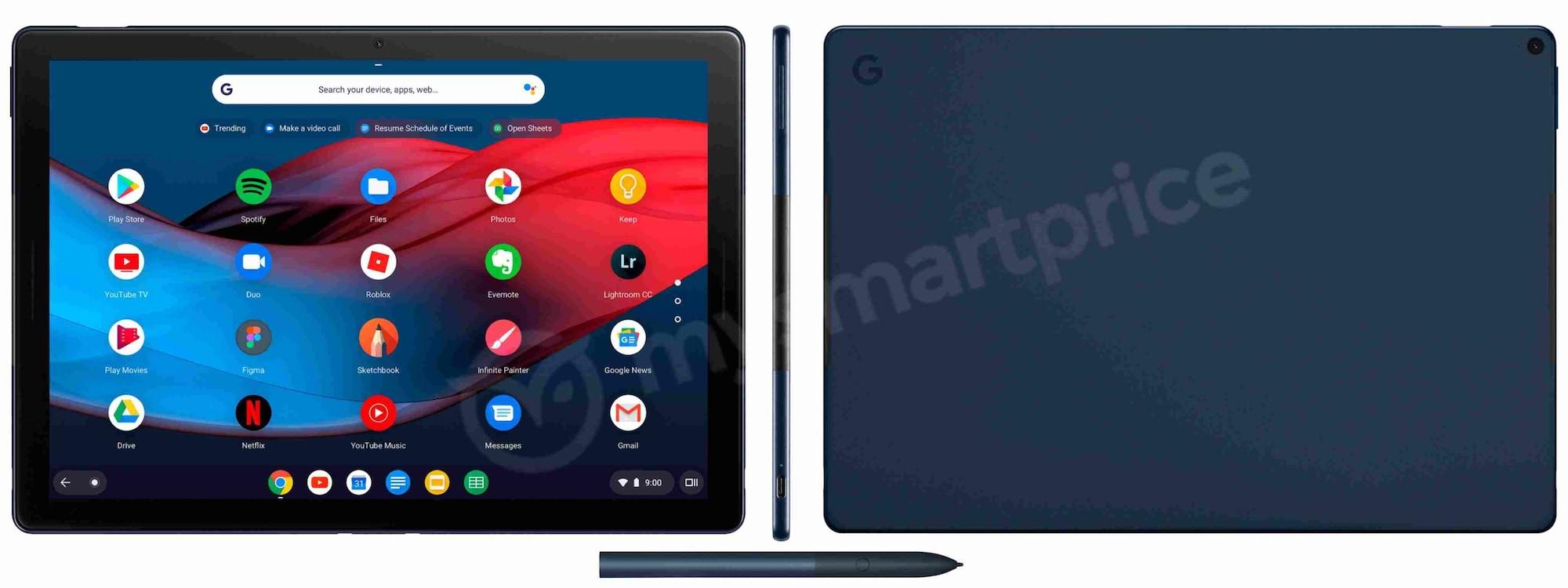 Combined renders of the Pixel Slate tablet. Image: MySmartPrice