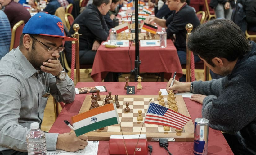 Grandmaster Abhijeet Gupta had a tough day in Round 6. Image Courtesy: John Saunders