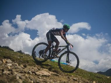 At the MTB Himalaya, amateur and professional riders alike seek thrills over punishing and unpredictable terrain