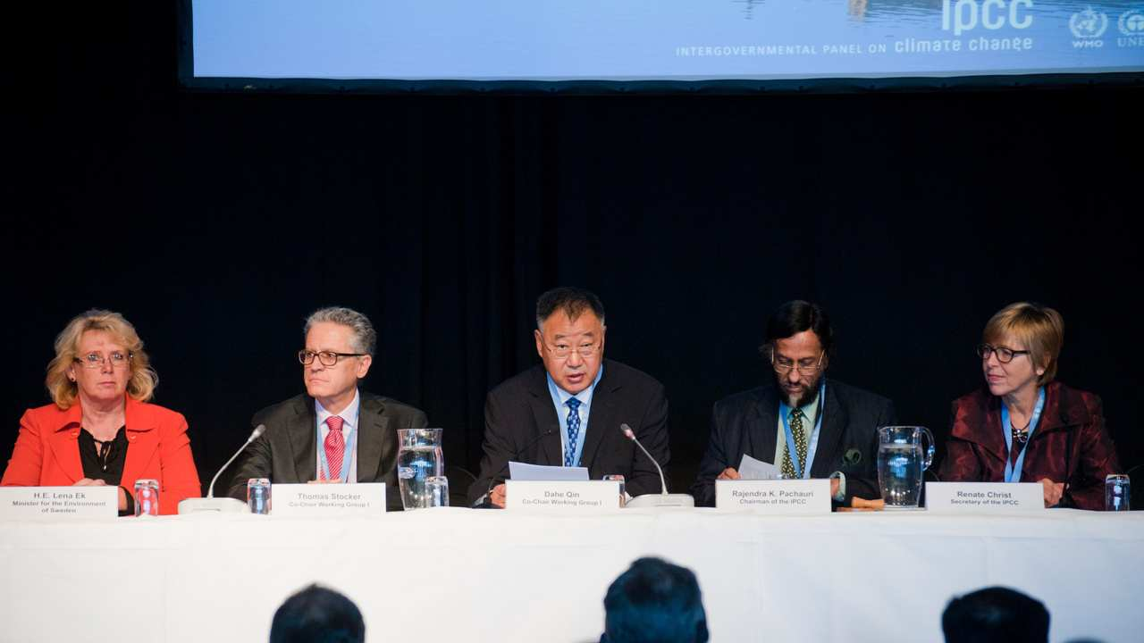 An image from the IPCC meeting in September, 2013. Image: Flickr