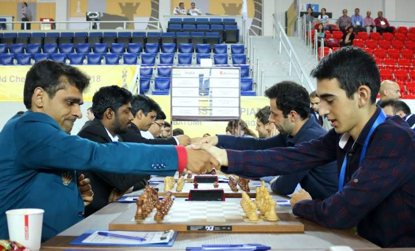 Batumi Chess Olympiad 2018: Indias chances of podium finish in doubt as mens and womens teams fail to win in round nine