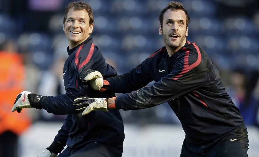 At Arsenal, one of the goalkeepers who pushed Jens Lehmann for the No 1 keeper's spot was Manuel Almunia. AFP