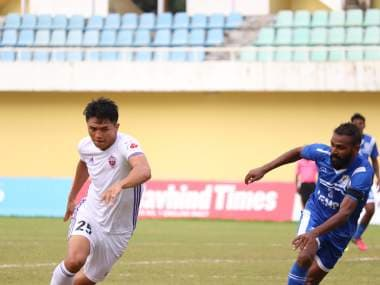 Jakob Vanlalhlimpuia in action against Dempo in the AWES Cup. Image courtesy: FC Pune City