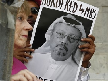 File image of protests outside the Embassy of Saudi Arabia about the disappearance of Saudi journalist Jamal Khashoggi, in Washington. AP