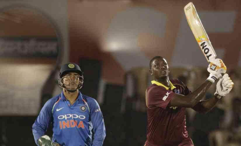 Jason Holder scored 54 not out in the 4th ODI. AP