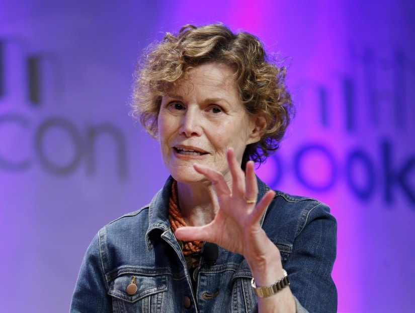 "FILE - In this May 31, 2015, photo, author Judy Blume speaks about her new book, ""In the Unlikely Event,"" her first novel for adults in 17 years, at BookCon in New York. ""Are You There God? It's Me, Margaret"" and Hollywood is calling. Judy Blume has at long last agreed to a feature film adaptation of her seminal young adult novel from 1970. (AP Photo/Kathy Willens, File)"
