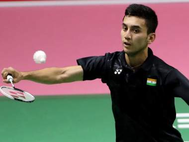 India's Lakshya Sen in action. Image courtesy: Twitter @BAI_Media