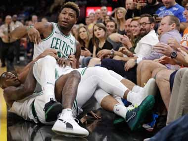 NBA: Boston Celtics' Marcus Smart, Cleveland Cavaliers' JR Smith fined for on-court altercation in pre-season