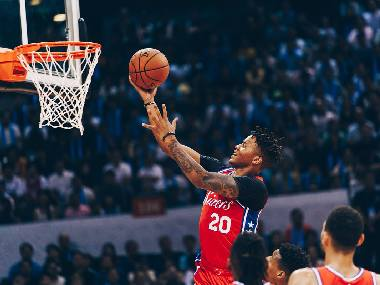Philadelphia 76ers' Markelle Fultz in action during a preseason game. Image courtesy: Twitter @sixers