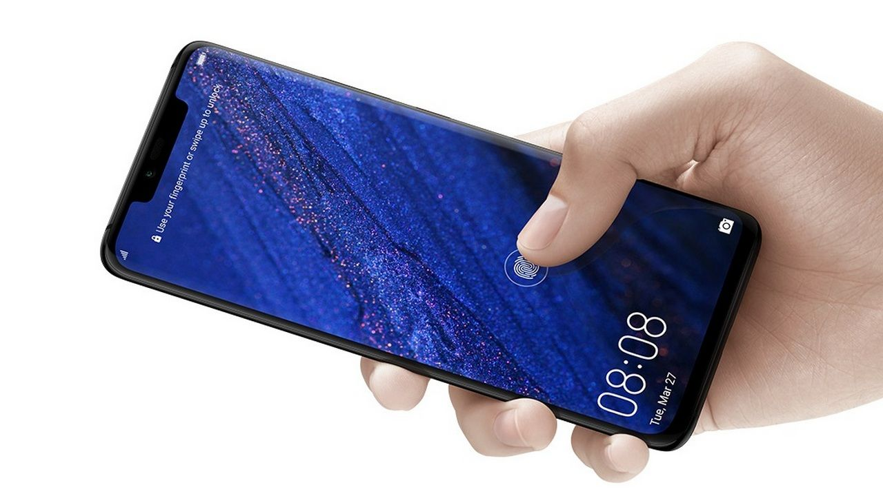 The Huawei Mate 20 Pro features an in-display fingerprint scanner.