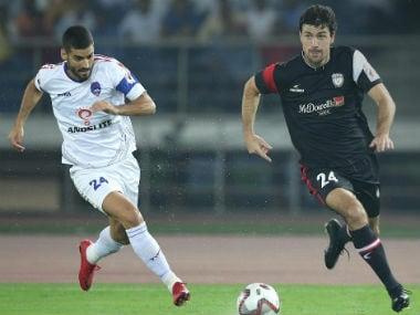 A dominant NorthEast United FC scored two late goals to beat Delhi Dynamos 2-0. ISL