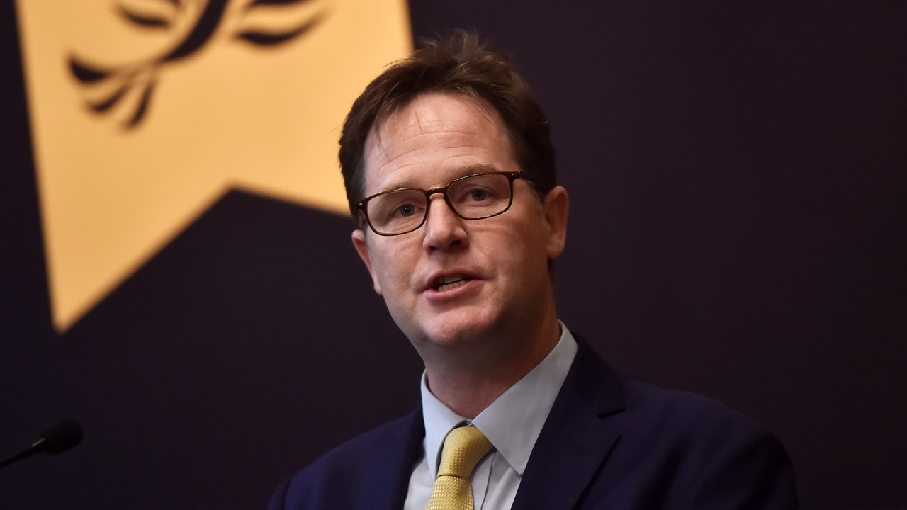 Formal Liberal Democrat leader Nick Clegg speaks at a campaign event in London, Britain. Image: Reuters