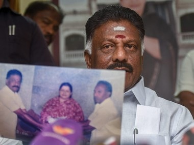 Tamil Nadu deputy chief minister O Panneerselvam at his official residence in Chennai. PTI