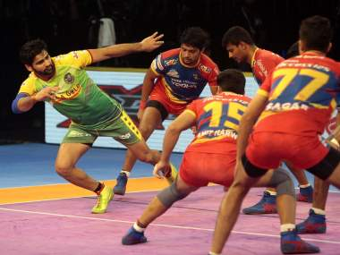 Pardeep Narwal scored 16 points to lead Patna Pirates to victory. Twitter @ProKabaddi