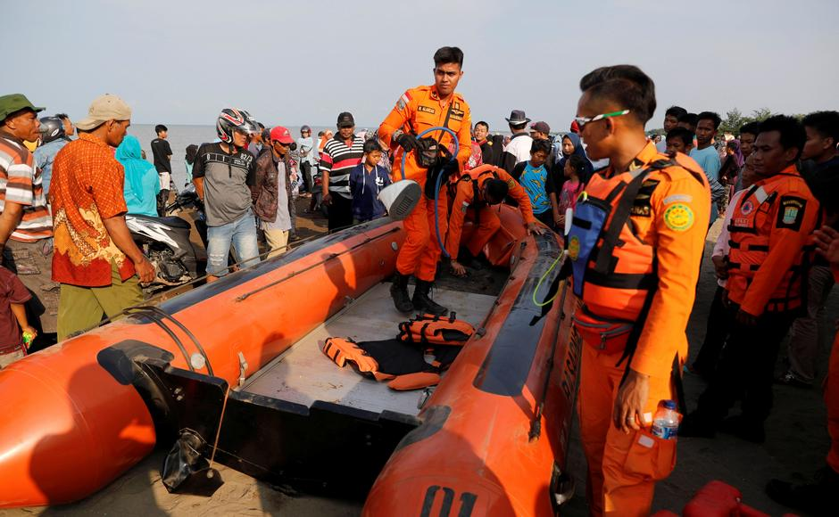 The National Search and Rescue Agency's deputy chief, Nugroho Budi Wiryanto, said some 300 people including soldiers, police and local fishermen are involved in the search. Reuters