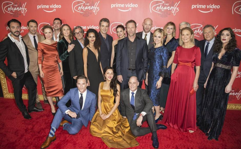 Aaron Eckhart, Amanda Peet, Diane Lane attend premiere of Amazon's The Romanoffs in New York