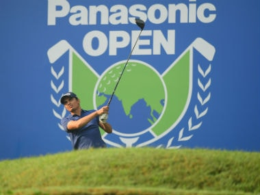 Ajeetesh Sandhu in action at the Panasonic Open.