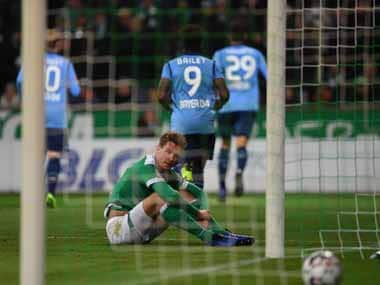 Werder Bremen were handed a massive defeat by Bayer Leverkusen, with German winger Bellarabi bagging a goal and an assist. AFP