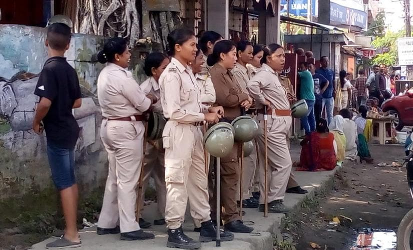 Normal life affected in Dibrugarh and security has been beefed up. By Avik, 101Reporters