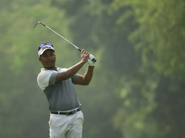 Siddikur Rahman in action at the Panasonic Open.