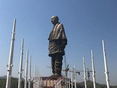 Image of the Statue of Unity. Twitter/@DG_Doordarshan