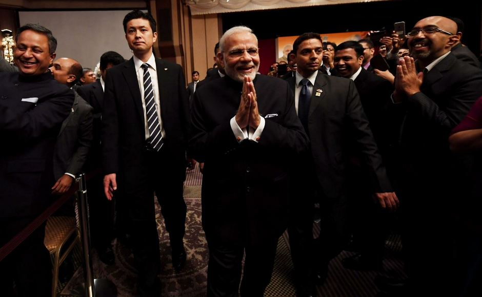 On his second day, Modi interacted with the Indian community in Japan and spoke about the history and future of India-Japan relations. Twitter/@narendramodi