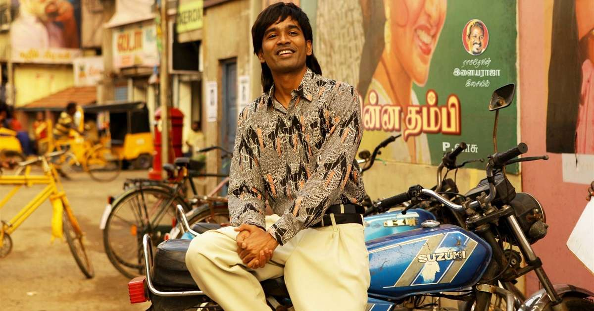 Dhanush in a still from Vada Chennai. YouTube