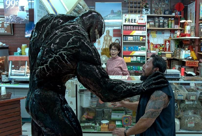 A still from Venom. Sony