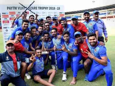 Vijay Hazare Trophy 2018: Mumbai capture third title after Aditya Tare's 71 lead them to four-wicket win over Delhi
