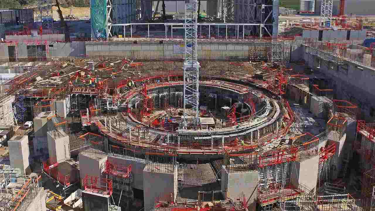 An image of ITER's construction site in Cadarache, France. Image: ITER