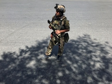 A member of the Afghan security forces in Kabul. File image. Reuters