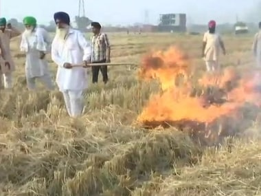 Data by the Punjab Pollution Control Board showed a decline in the paddy stubble-burning in Punjab this Kharif season. ANI
