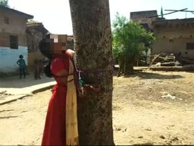 Bihar: Girl tied to tree, thrashed on Panchayat's diktat for eloping with man from another caste in Nawada district