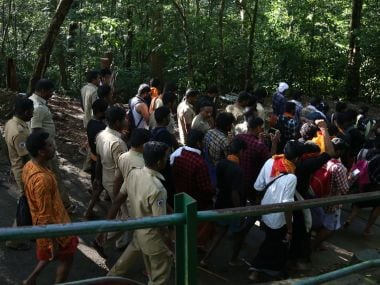 Activists of Hindu organisations and political parties, who were hiding in the forests, sprung up and blocked the NYT journalist. Image by TK Devasia
