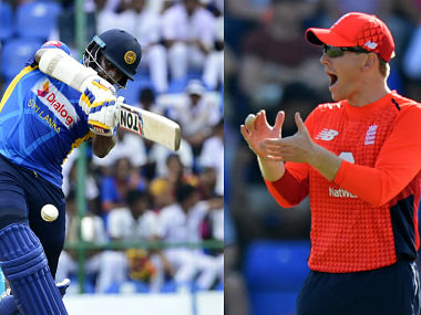 Thisara Perera and Eoin Morgan, captains of England and Sri Lanka respectively. AFP