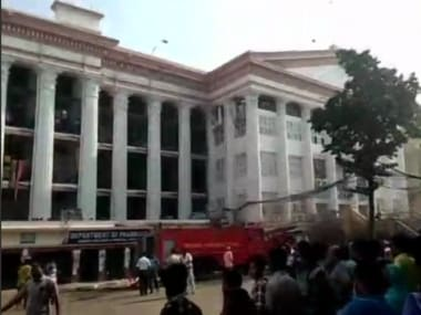 File image of the fire at Kolkata Medical College and Hospital. ANI