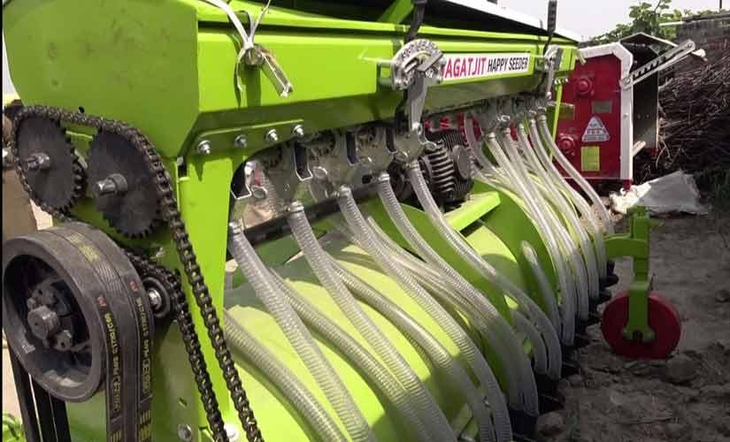 A Happy Seeder machine. Firstpost/Ankita Virmani