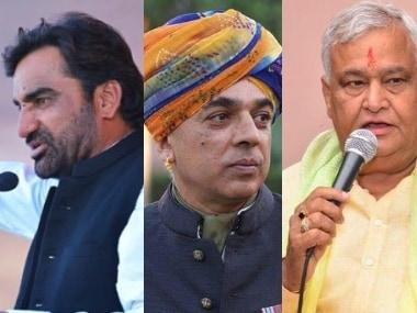 Hanuman Beniwal, Manvendra Singh, and Kirori Lal.